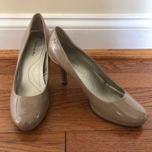 Taupe, 3 1/2 inch Tahari heels, size 7.5